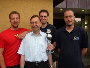 TG Biberach mit Oliver Weiß, Holger Namyslo, Dirk-Steffen Schindler und Rainer Wohlfahrt (von links)